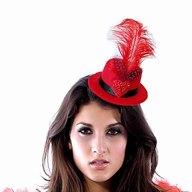 Gorgeous Nylon With Feather Women's Fascinators