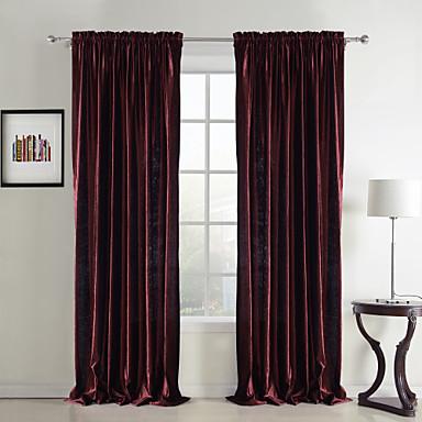 Schlaufen für Gardinenstange Ösen Schlaufen Zweifach gefaltet zwei Panele Window Treatment Neoklassisch Solide Schlafzimmer Polyester