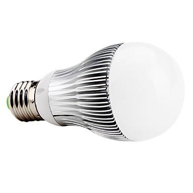 E27 6W 500-550LM 6000-6500K Natural White Light LED Ball Bulb (85-265V)