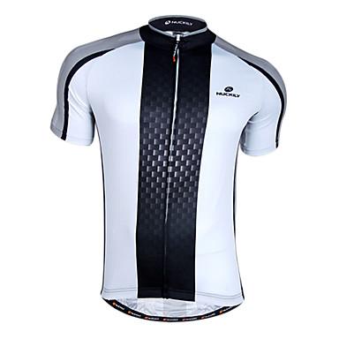 Nuckily Bărbați Manșon scurt Jerseu Cycling - Negru/Alb Bicicletă Jerseu, Uscare rapidă, Respirabil, Primăvară Vară