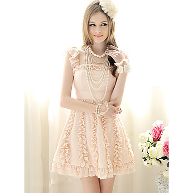 kvinnors eleganta spetsar swing klänning