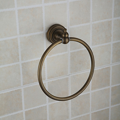 Tyč na ručníky Vysoká kvalita Starožitný Mosaz 1 ks - Hotelová koupel kroužek na ručník