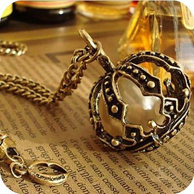 dámské perla koruna vintage bryndáček náhrdelník