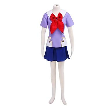 Esinlenen Cosplay Cosplay Anime Cosplay Kostümleri Cosplay Takımları / Okul Üniformaları Kırk Yama Kısa Kollu Top / Etek Uyumluluk Kadın's Cadılar Bayramı Kostümleri