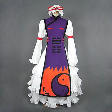 Ispirato da Touhou Project Yukari Yakumo Video gioco Costumi Cosplay Abiti Cosplay Abiti Collage Manica lunga Canottiera Sottogonna