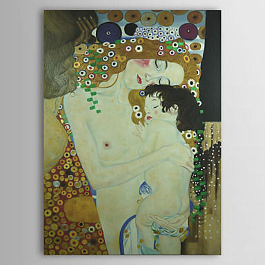 Mother and Child (Detail From the Three Ages of Woman) C1905 by Gustav Klimt Museum Quality with Gold Foil