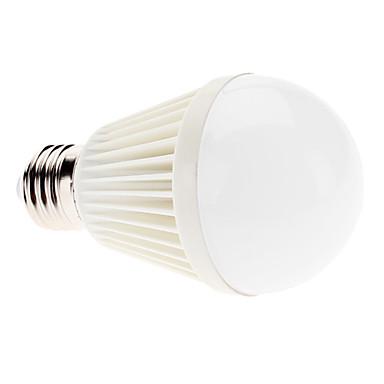 6000lm E26 / E27 LED-globepærer A60(A19) 9 LED Perler Højeffekts-LED Naturlig hvid 100-240V