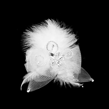 Tulle Feather Fascinators 1 Special Occasion Headpiece