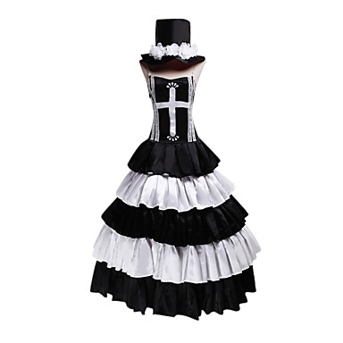 Inspired by Cosplay Cosplay Anime Cosplay Costumes Cosplay Suits Dresses Sleeveless Dress Hat For Female