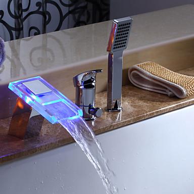 EFFINGHAM - ברז לאמבטיה מפל מים LED