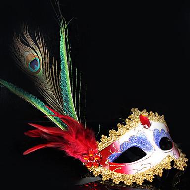 Maska cosplay Festival/Svátek Halloweenské kostýmy Červená Tisk Maska Halloween / Karneval / Nový rok Unisex PVC