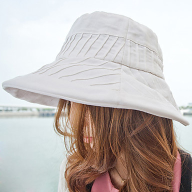 Women's Flat-top Big Eaves Beach Hat/Sunhat(56-58cm)