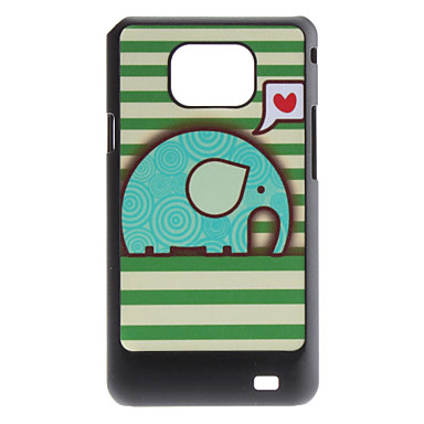 Flash Design Cute Elephant Pattern Hard Case for Samsung Galaxy S2 I9100