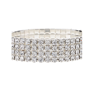 Žene Tenis Narukvice Luksuz Kristal Imitacija dijamanta Legura Jewelry Party Nakit odjeće