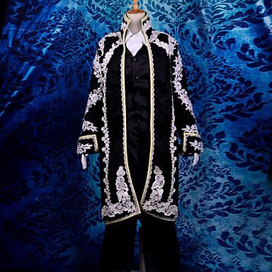 Inspirovaný Vocaloid Kaito Video Hra Cosplay kostýmy Cosplay šaty Žakár Dlouhý rukáv Nákrčník Kabát Vesta Kostýmy / Satén