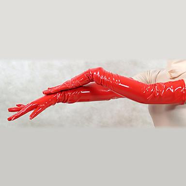Rukavice Catsuit Odijelo za kožu Ninja Odrasli Cosplay Nošnje Spol Crvena Jednobojni PVC Muškarci Žene Halloween / Visoka elastičnost