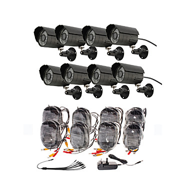 Day/Night Security Camera 8 Pack(8 Waterproof Outdoor Cameras)