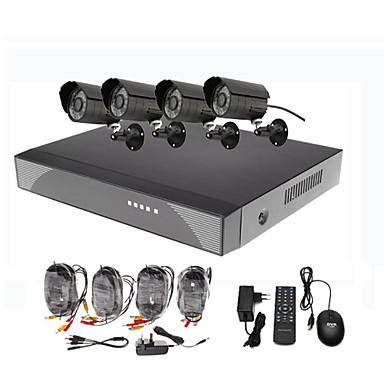 8 canali di sorveglianza di sicurezza esterna del sistema 4 warterproof Night Vision Camera