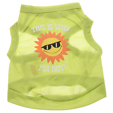 Hund T-shirt Hundekleidung Buchstabe & Nummer Grün Terylen Kostüm Für Haustiere