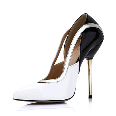 Elegant Patent Leather Stiletto Heel Pointy Toe Pumps Party / Evening Shoes