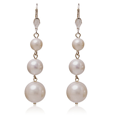 Women's - Regular Classic White Round Others Earrings For Party