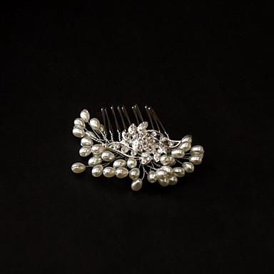 Kristal İmitasyon İnci Kumaş alaşım - Tiaras Saç Combs 1 Düğün Özel Anlar Parti / Gece Günlük Başlık