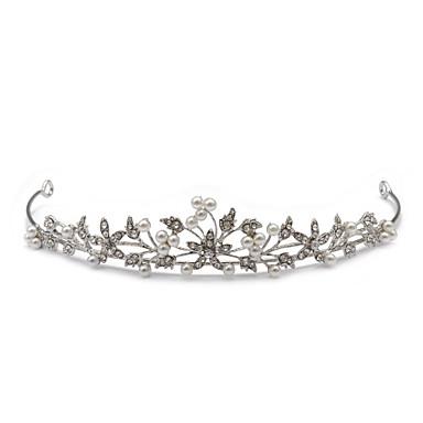 rhinestone blomma och pärla tiara