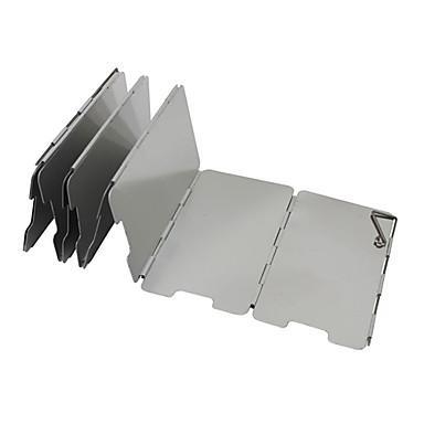 9PCS Al Alloy Barbecue Demontabel winddicht Boards (65x13.5x0.2CM)