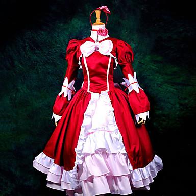 Inspirado por Black Butler Elizabeth Animé Disfraces de cosplay Trajes Cosplay / Vestidos Retazos Manga Larga Pañuelo / Vestido / Chal Para Mujer / Satín