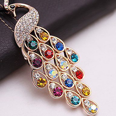 Women's  Colorful Peacock Necklace