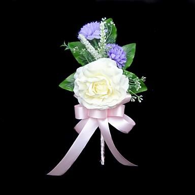 Düğün Çiçekleri Boutonnieres Düğün Parti / Gece Pamuk Saten 5.91