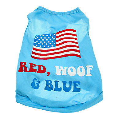 Hund T-shirt Hundetøj Nationalflag Amerikansk / USA Bomuld Kostume For kæledyr Herre Dame