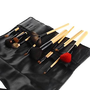 16PCS Hoge kwaliteit dierlijk haar taille tas Make-up borstel set