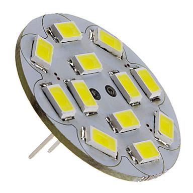 3 W 250 lm G4 LED-kohdevalaisimet 12 LED-helmet SMD 5730 Neutraali valkoinen 12 V