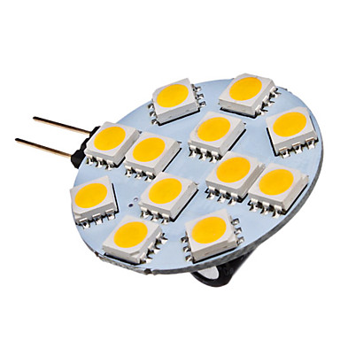 G4 Точечное LED освещение 12 SMD 5050 70 lm Тёплый белый 2700K К DC 12 V