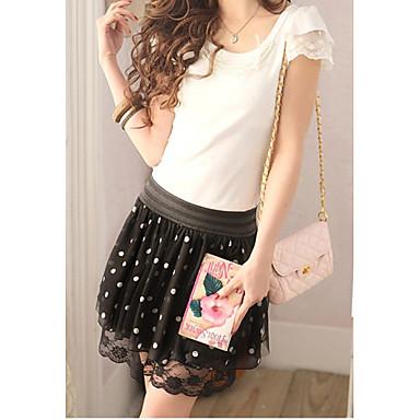 Naisten Polka Dots Lace Short Chiffon Skirt