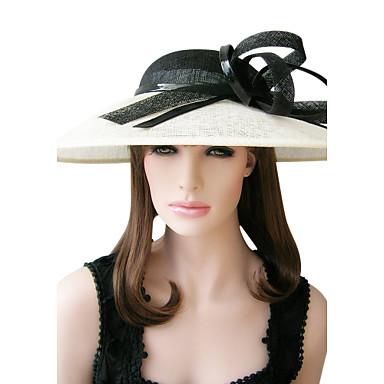 Elegante Linho Especial Ocasião Chapéus