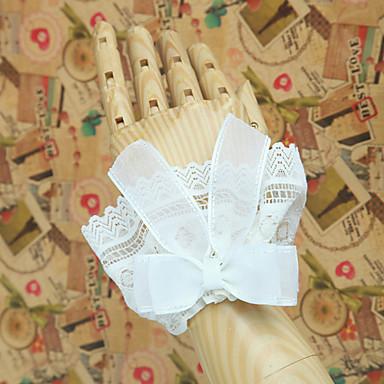Lolita Aksesuarları Klasik / Geleneksel Lolita Lolita Klasik Lolita Kadın's Beyaz Lolita Aksesuarları Solid / Fiyonk Düğüm / Dantel Kollar