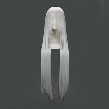 Parrucche Cosplay Fate/zero Irisvie von Einzbern Argento Lungo Anime Parrucche Cosplay 100 CM Tessuno resistente a calore Donna