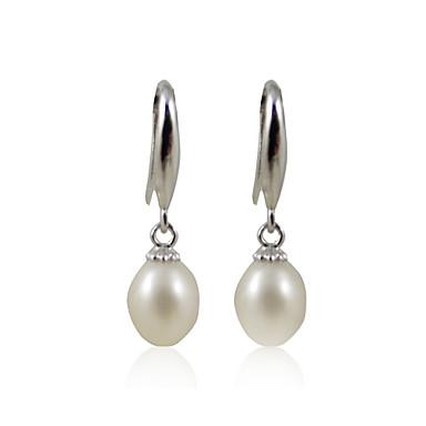 Damen Elfenbein Elfenbein Perle Tropfen-Ohrringe - Sterling Silber, Silber Silber Für