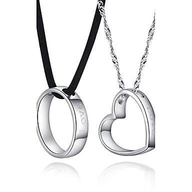 Gorgeous Silver Rope / Ocultar con el collar de la manera plateado platino Lovers '