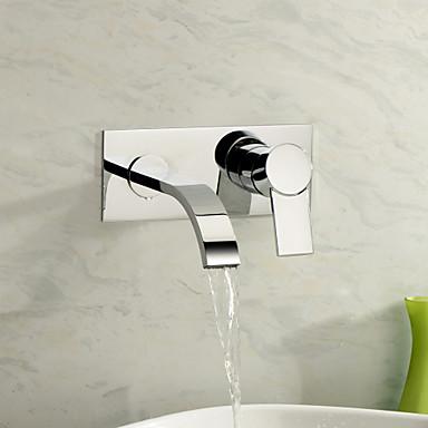 Kupaonica Sudoper pipa - Waterfall Chrome Zidne slavine Two Holes / Jedan obrađuju dvije rupe