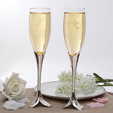 abordables Flûtes à Champagne-Personnalisés élégants pétales flûtes de conception de Chauffe souches