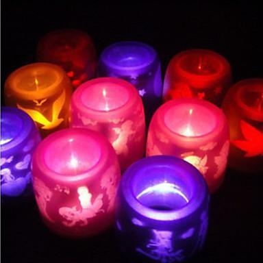 luz llevada de la vela sin llama electrónica (color al azar)
