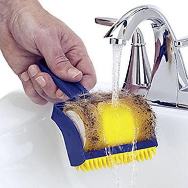 Høj kvalitet 1pc Plast Rengøringsbørste og klud Værktøj, Køkken Rengørings midler