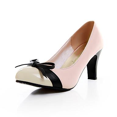 Chaussures Femme - Habillé - Noir / Rose - Gros Talon - Talons - Talons - Similicuir