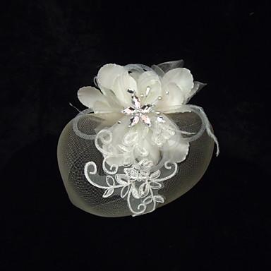 Cristal Imitație de Perle Ștras Material Textil Satin Net Diademe Palarioare 1 Nuntă Ocazie specială Party / Seara Diadema