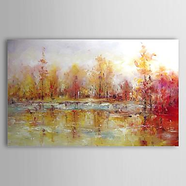 Hang-pictate pictură în ulei Pictat manual - Peisaj Contemporan pânză