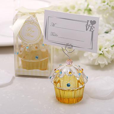 Pedrarias Cristal Portadores de Cartão de lugar Estilo em Pé Caixa de Ofertas 1 pcs