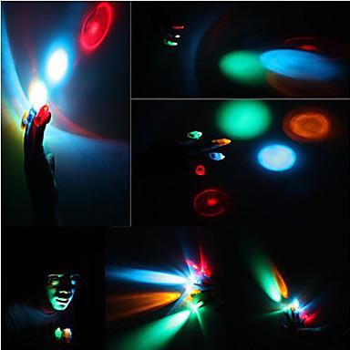 1 PC colorido láser de luz LED dedo (color al azar)